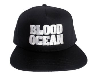 BLOOD OCEAN 5-Panel Flat Bill Embroidered Hat/Cap
