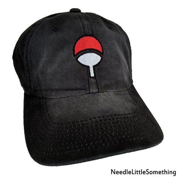 Uchiha Clan Fan Symbol High Quality Embroidered Washed Hatcap Etsy