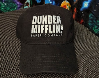 Dunder Mifflin Paper Co. Embroidered Black Dad Hat/Cap