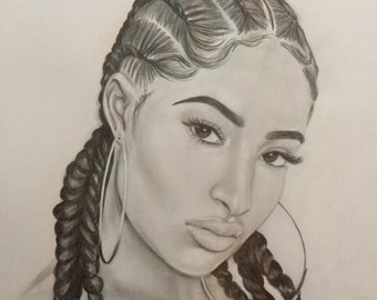 Custom portrait drawings