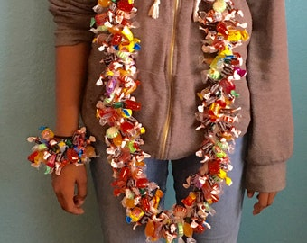 Combo Mixed Candy Lei & Bracelet