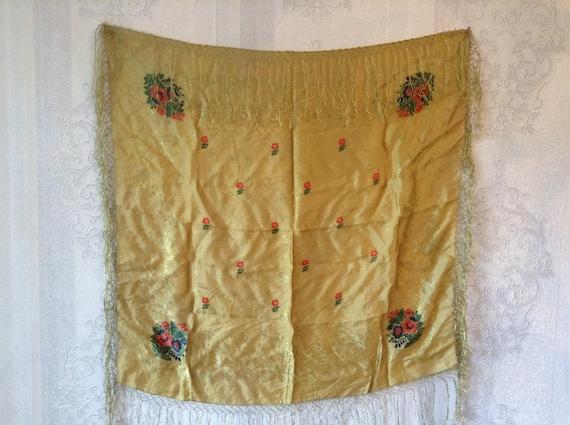 Vintage Russian silk shawl Vintage Russian silk  s