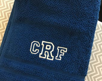 Monogrammed or personalized Bath towel