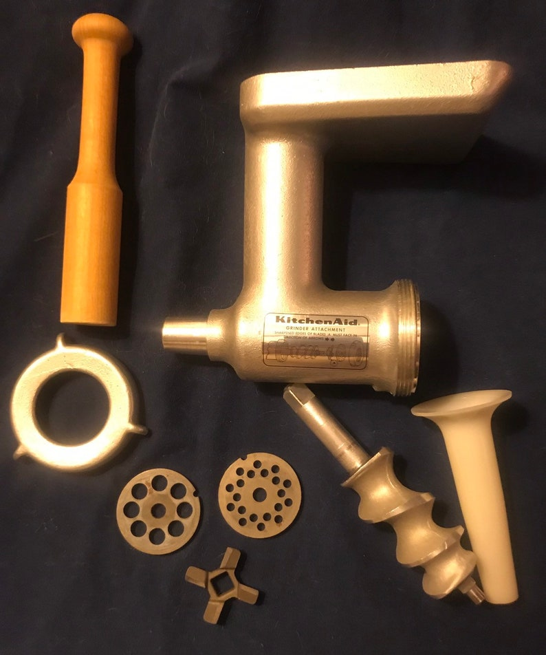 Vintage Metal Kitchen Aid /Hobart Meat Grinder Attachment. Appears to have  never been used.