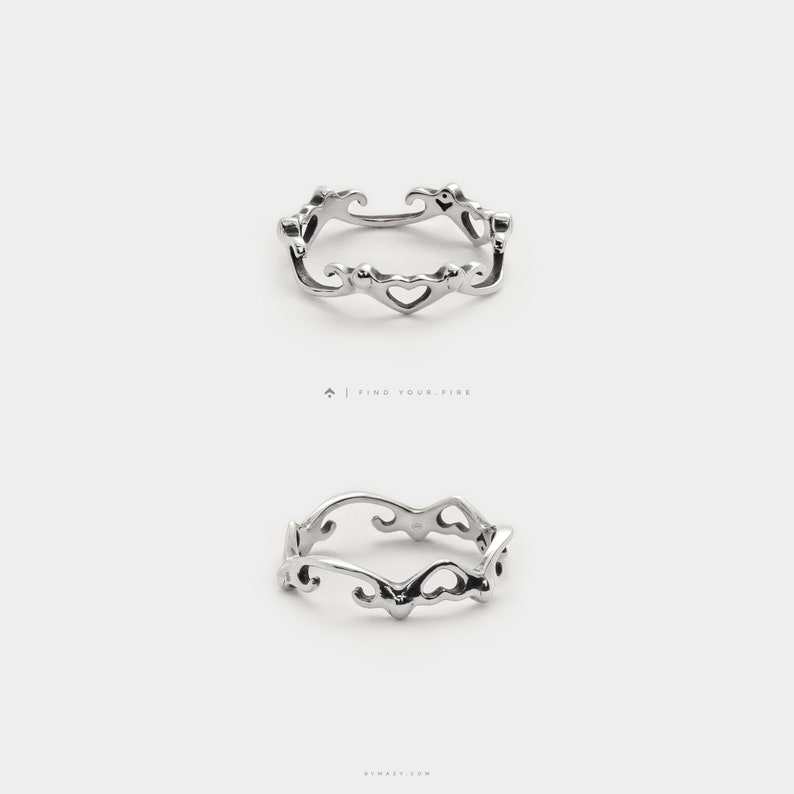 Small Heart Ring  Silver Stackable Rings  Dainty Promise image 0