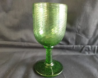 Georgian Regency Green Soda Glass Twist Wine Glass c1830