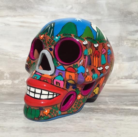 Mi Pueblo Ceramic Sugar Skull **Large Skull**