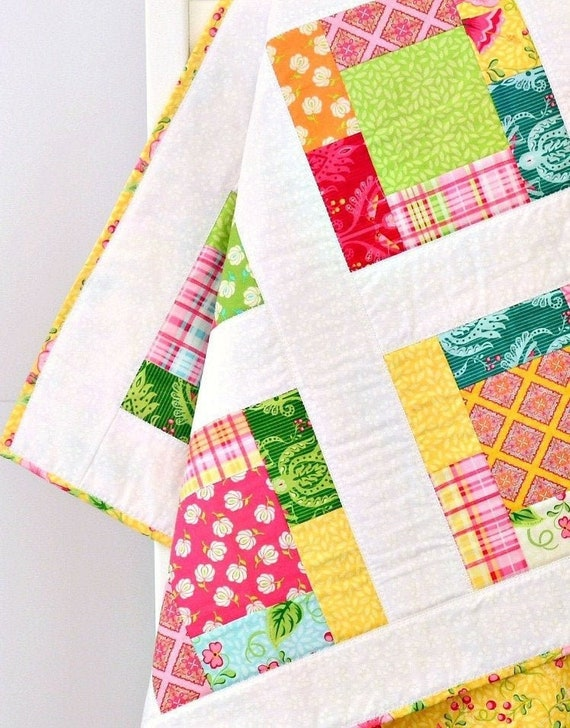 Baby Gifts Crib Quilts Pink /& Yellow Floral Baby Quilt Baby Quilts Baby Quilt Crib Quilt Baby Shower Gift