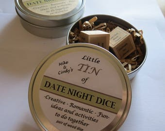 Date Night Cards Date Night Ideas On Solid Wood Tokens Etsy