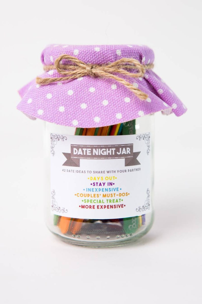 Date Night Jar The Perfect Gift For Someone Special Cheap