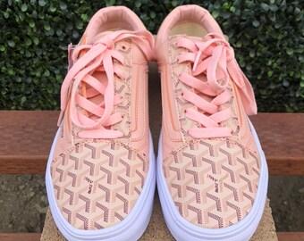 c13be91c53c0 Vans x Goyard Custom Pink Sneakers