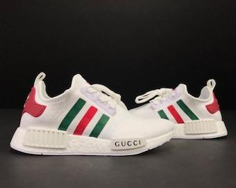 Adidas NMD x Gucci Custom Shoes white b25b2fdec73
