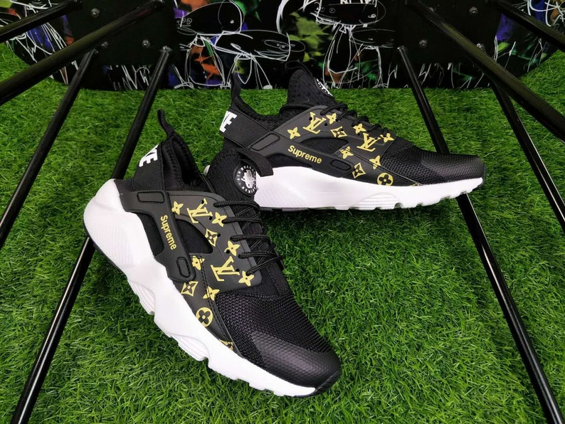 8076fd3f773fda Custom Nike Air Huarache Supreme Louis Vuitton 4.0