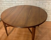 Mid Century Modern Jens Risom quot Lazy Susan quot Swivel Top Game Table
