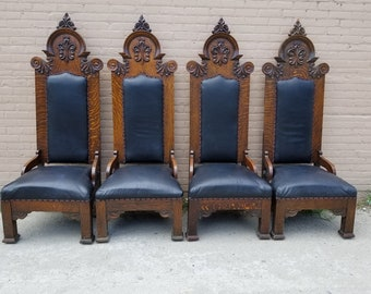 Antique Dining Chairs >> Antique Dining Chair Etsy