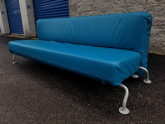 Cool Mid Century Modern B And B Italia Blue Lunar Sleeper Sofa Andrewgaddart Wooden Chair Designs For Living Room Andrewgaddartcom