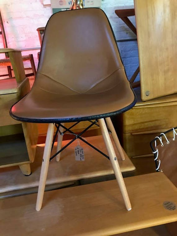 Pair of Herman Miller Italian Leather Bucket Chairs With | Etsy