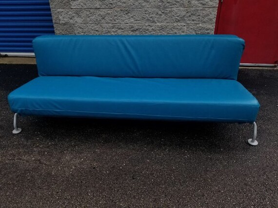 Fabulous Mid Century Modern B And B Italia Blue Lunar Sleeper Sofa Andrewgaddart Wooden Chair Designs For Living Room Andrewgaddartcom