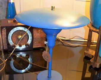 Vintage Blue Metal Lamp