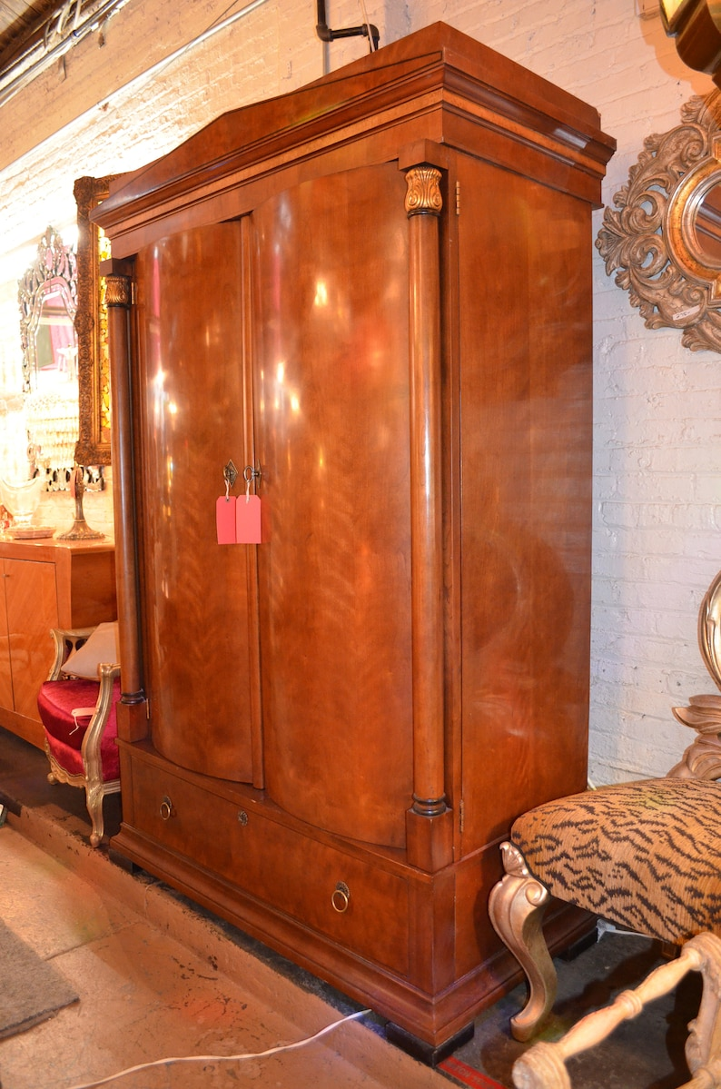 Vintage Art Deco Henredon Armoire Custom Designed Wine Bar