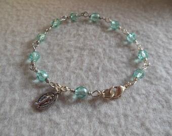 Pale Turquoise Rosary Bracelet
