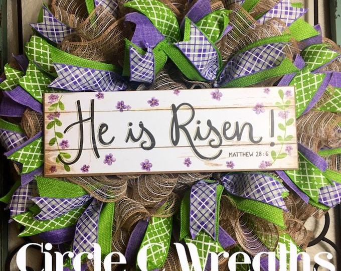 He is Risen/Easter Wreath