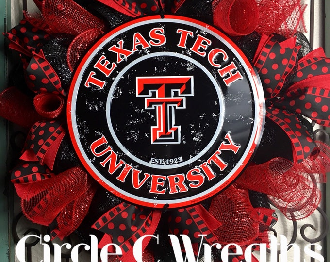 Texas Tech University Wreath (FREE SHIPPING)