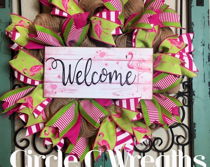 Flamingo Wreath (Free Shipping)