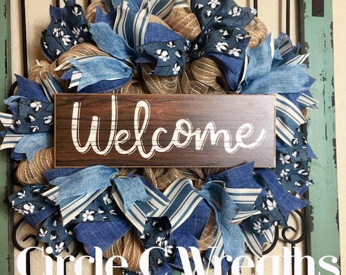 Welcome Front Door Wreath