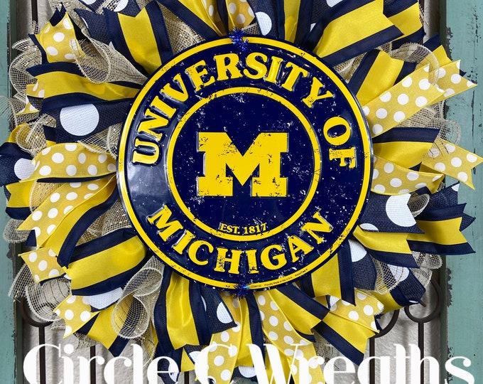 University of Michigan Wreath (FREE SHIPPING)