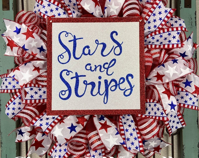 Stars and Stripes Wreath (FREE SHIPPING)