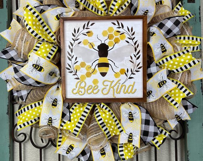 Bee Kind Wreath (FREE SHIPPING)