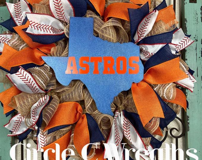 Houston Astros Wreath (FREE SHIPPING)