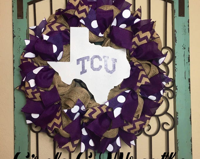 TCU/Texas Christian University Wreath