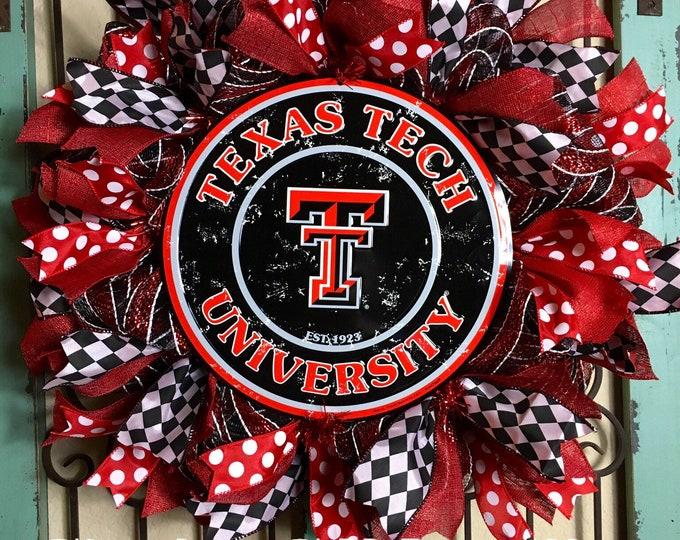 Texas Tech University Wreath