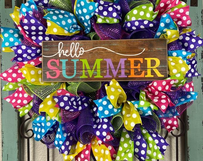 Summer Wreath (FREE SHIPPING)