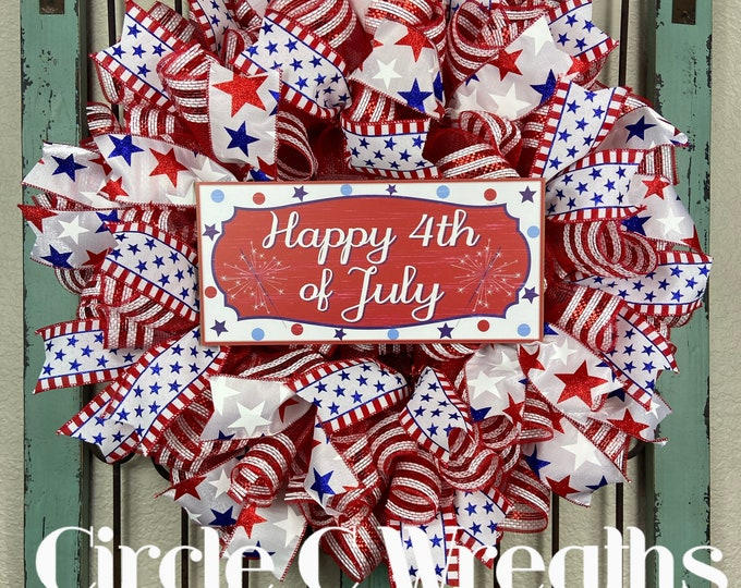 4th of July Wreath (FREE SHIPPING)