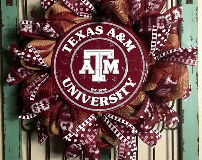 Texas A&M University Wreath