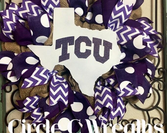 TCU/Texas Christian University Wreath