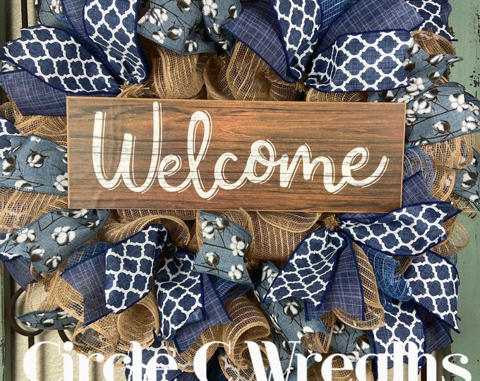 Welcome Wreath (FREE SHIPPING)