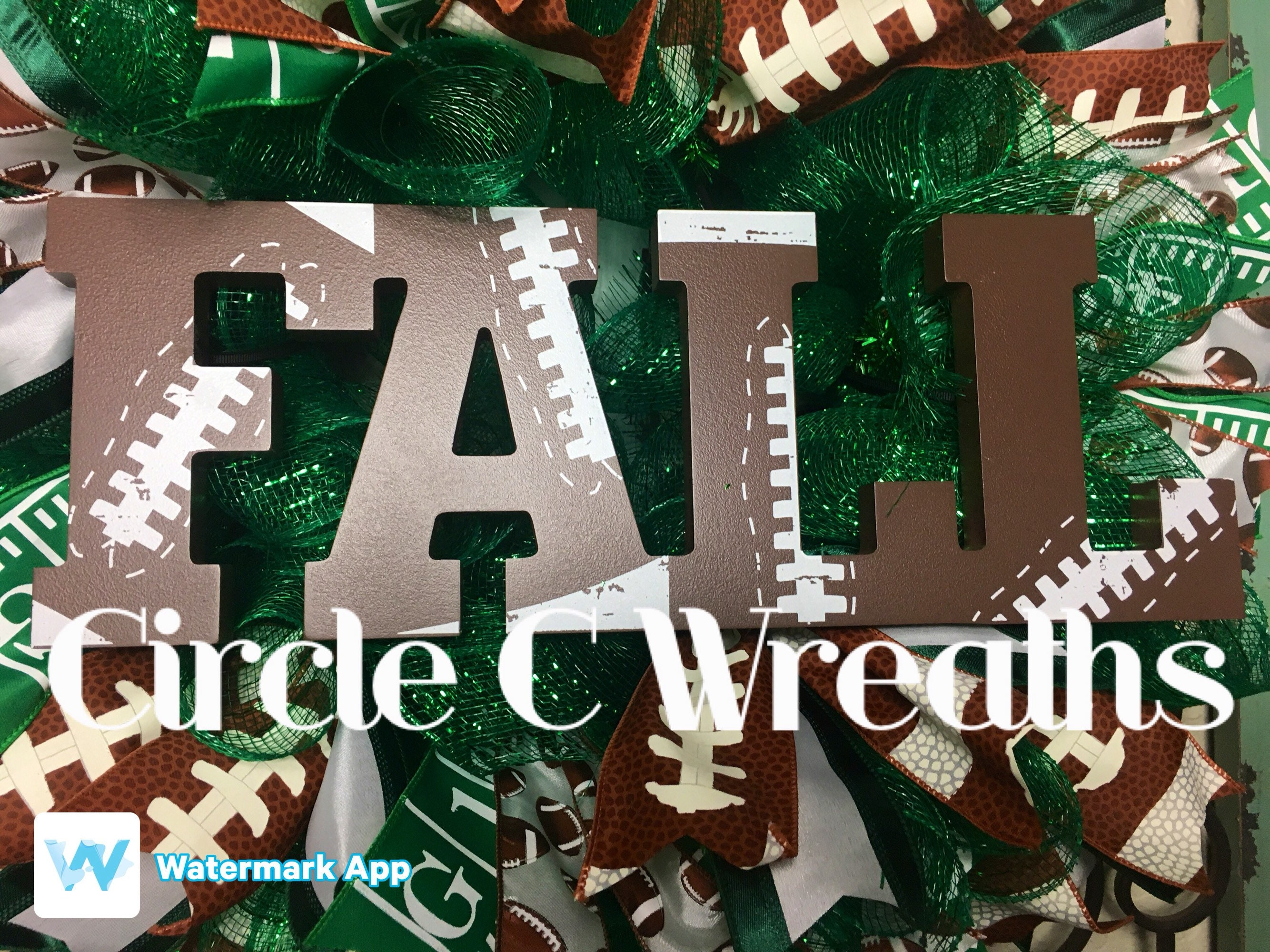 Fall Welcome Front Door Wreath Fall Football Wreath Football Front Door Wreath Front Door Wreath Custom Football Wreath Fall Front Door