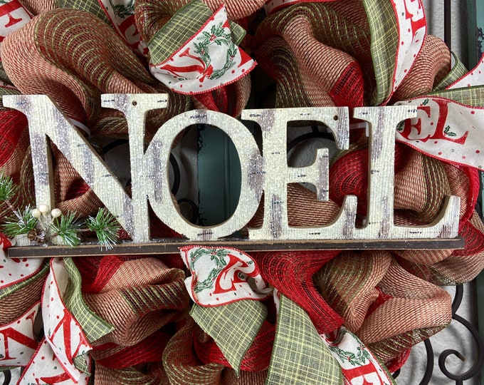 LAST 1-Christmas Wreath, Merry Christmas Wreath, NOEL Wreath