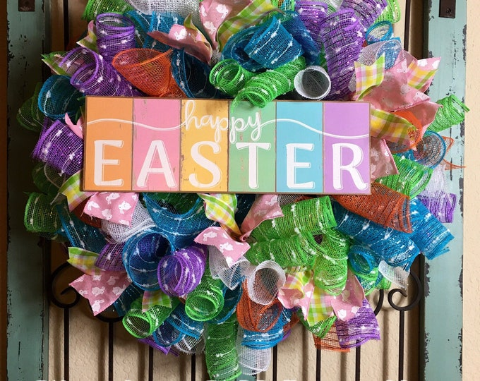 Happy Easter Wreath (Free Shipping)