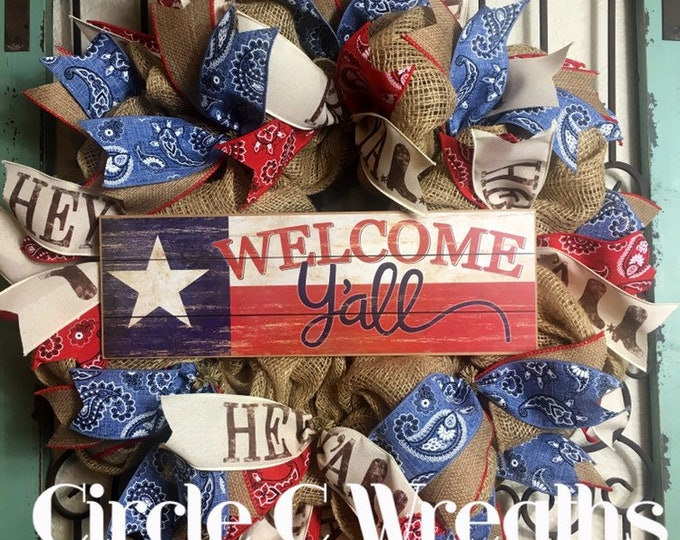 Texas Welcome Y'all  (FREE SHIPPING)