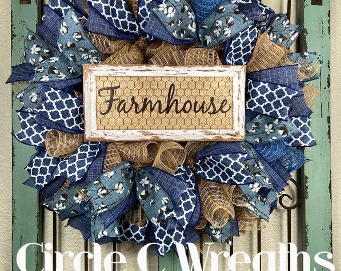 Farmhouse Wreath (Free Shipping)