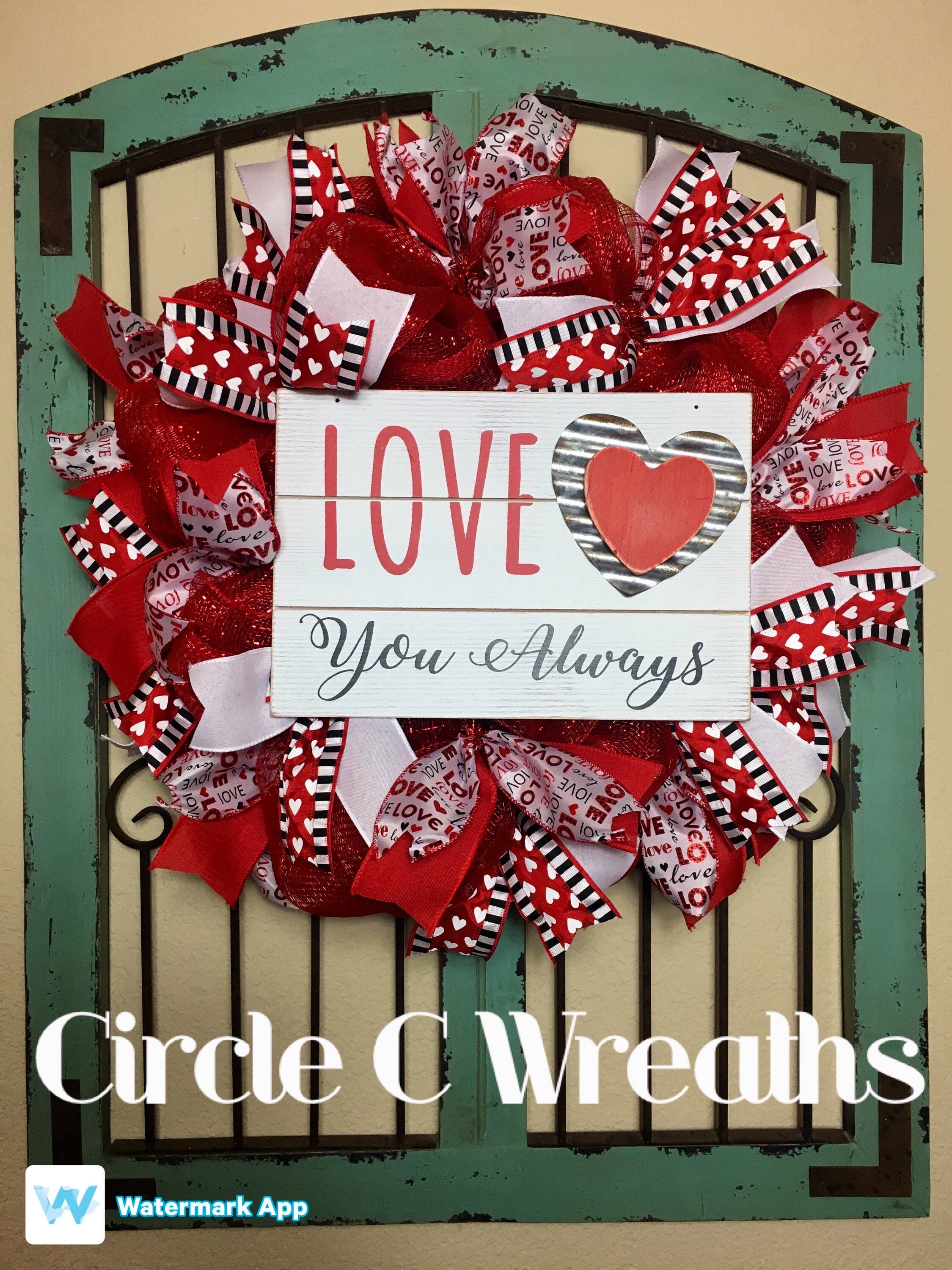 Valentine S Day Wreath Valentine S Day Deco Mesh Wreath