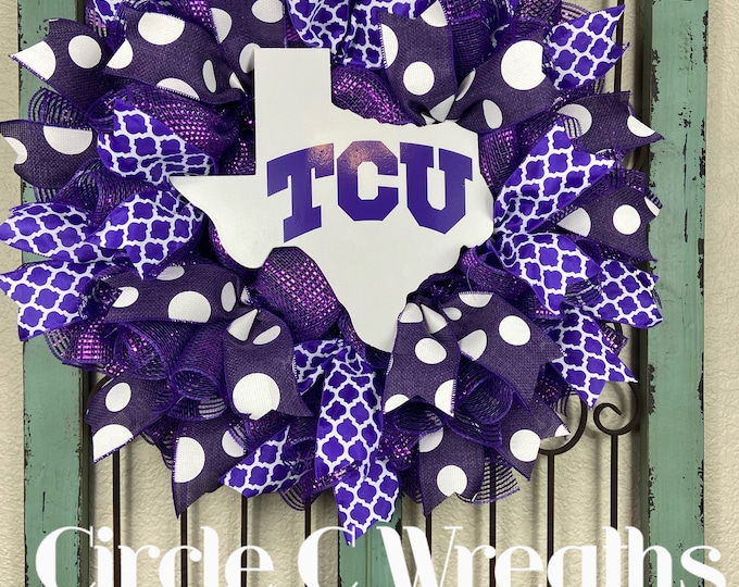 LAST 1-TCU Wreath, Texas Christian University Wreath
