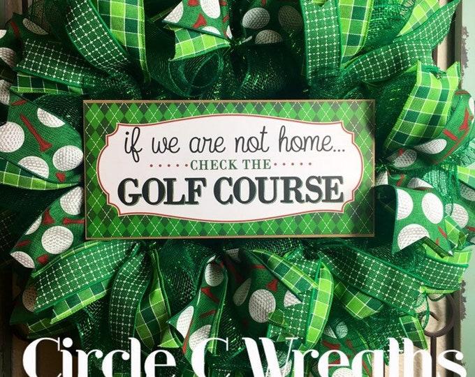 Golf Wreath (FREE SHIPPING)