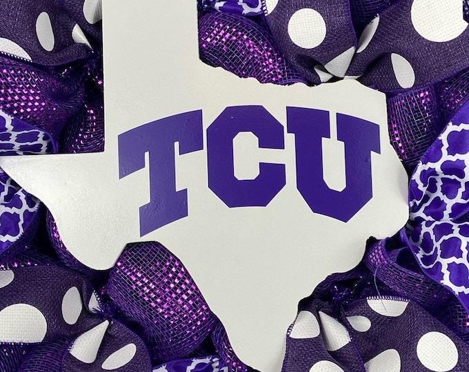 TCU Texas Wood Cutout (FREE SHIPPING)