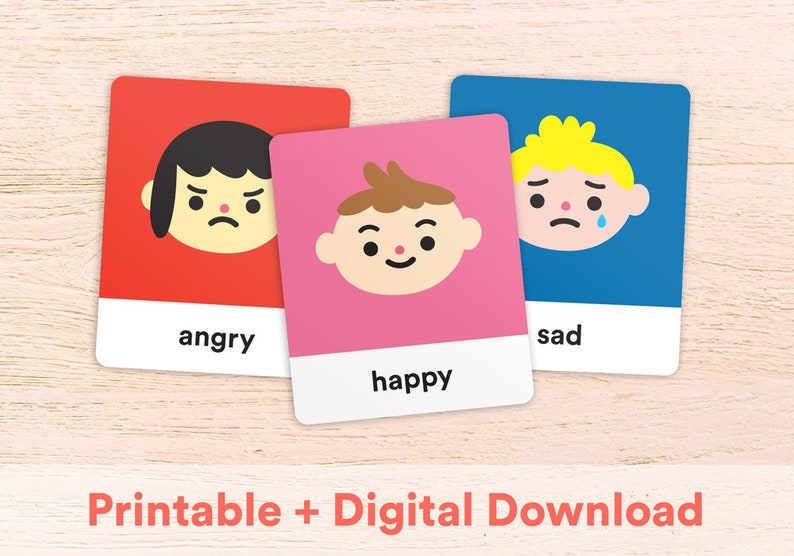 graphic about Emotion Flashcards Printable named Emotions Thoughts Printable Flashcards for infants, kids, preschool